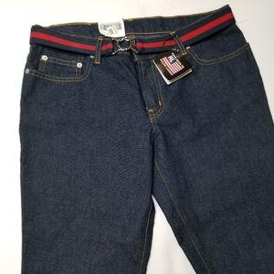 NWT Ralph Lauren Polo Jeans Co Blue Hipster Capri